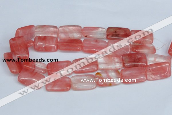 CCY162 15.5 inches 20*30mm rectangle cherry quartz beads wholesale