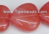 CCY164 15.5 inches 30*30mm heart cherry quartz beads wholesale