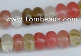 CCY202 15.5 inches 8*12mm rondelle volcano cherry quartz beads