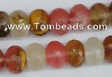 CCY208 15.5 inches 12*16mm faceted rondelle volcano cherry quartz beads