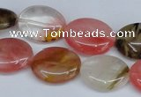 CCY217 15.5 inches 13*18mm oval volcano cherry quartz beads