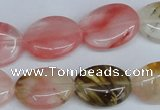 CCY218 15.5 inches 15*20mm oval volcano cherry quartz beads