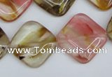 CCY225 15.5 inches 20*20mm diamond volcano cherry quartz beads
