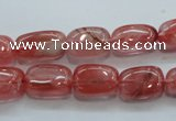 CCY51 15.5 inches 9*15mm nugget cherry quartz beads wholesale