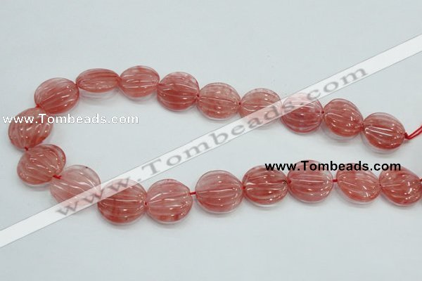 CCY53 15.5 inches 20mm flat round cherry quartz beads wholesale