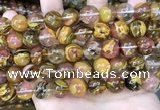 CCY645 15.5 inches 14mm round volcano cherry quartz beads