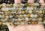 CCY646 15.5 inches 6mm round volcano cherry quartz beads
