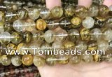 CCY649 15.5 inches 12mm round volcano cherry quartz beads