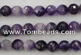 CDA152 15.5 inches 8mm faceted round dogtooth amethyst beads
