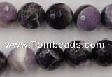 CDA155 15.5 inches 14mm faceted round dogtooth amethyst beads