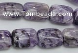 CDA310 15.5 inches 13*18mm rectangle dyed dogtooth amethyst beads