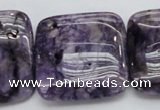CDA315 15.5 inches 30*30mm square dyed dogtooth amethyst beads