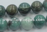 CDB02 15.5 inches 14mm round natural new dragon blood jasper beads
