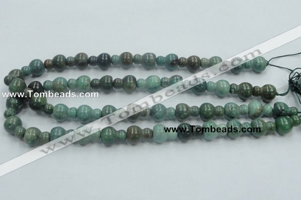 CDB10 15.5 inches 12*16mm calabash natural new dragon blood jasper beads