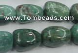 CDB11 15.5 inches 14*20mm nugget natural new dragon blood jasper beads