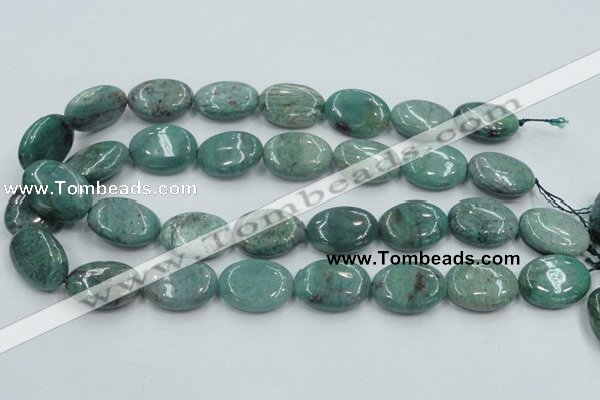 CDB20 15.5 inches 18*25mm oval natural new dragon blood jasper beads