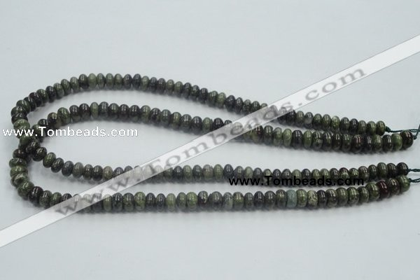 CDB201 15.5 inches 5*8mm rondelle natural dragon blood jasper beads