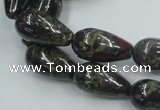 CDB203 15.5 inches 10*20mm teardrop natural dragon blood jasper beads