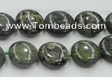 CDB207 15.5 inches 14mm flat round natural dragon blood jasper beads