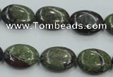 CDB211 15.5 inches 12*16mm oval natural dragon blood jasper beads