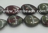 CDB216 15.5 inches 13*18mm flat teardrop natural dragon blood jasper beads
