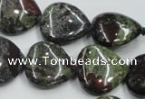 CDB220 15.5 inches 20*20mm heart natural dragon blood jasper beads