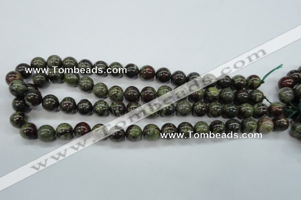 CDB231 15.5 inches 12mm round natural dragon blood jasper beads