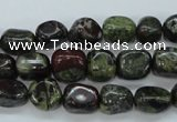CDB236 15.5 inches 8*12mm nuggets natural dragon blood jasper beads