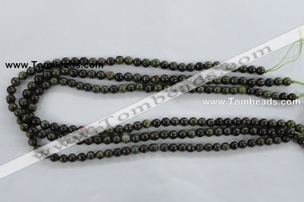 CDB251 15.5 inches 8mm round natural dragon blood jasper beads