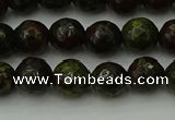 CDB311 15.5 inches 6mm faceted round dragon blood jasper beads