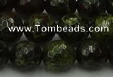 CDB315 15.5 inches 14mm faceted round dragon blood jasper beads
