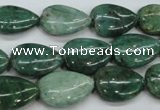 CDB33 15.5 inches 13*18mm flat teardrop new dragon blood jasper beads