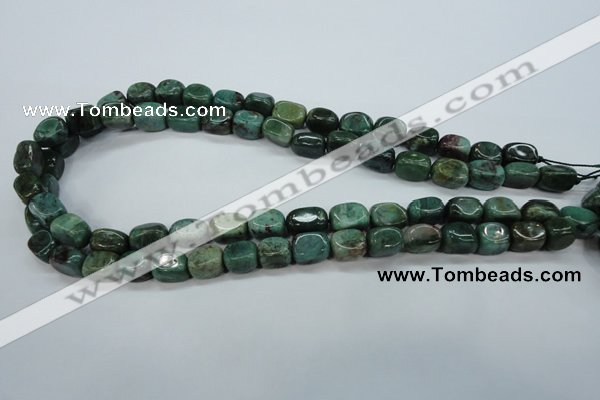 CDB37 15.5 inches 8*12mm nuggets new dragon blood jasper beads