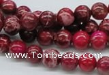 CDE03 15.5 inches 8mm round dyed sea sediment jasper beads