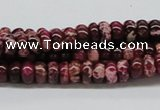 CDE06 15.5 inches 4*8mm rondelle dyed sea sediment jasper beads