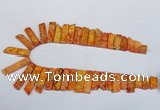 CDE1001 Top drilled 9*15mm - 10*45mm sticks sea sediment jasper beads