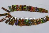 CDE1012 Top drilled 9*15mm - 10*45mm sticks sea sediment jasper beads
