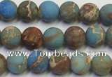 CDE1030 15.5 inches 4mm round matte sea sediment jasper beads