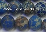 CDE1043 15.5 inches 10mm round matte sea sediment jasper beads