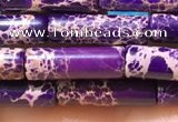 CDE1101 15.5 inches 4*13mm tube sea sediment jasper beads