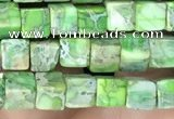 CDE1205 15.5 inches 4.5mm - 5mm cube sea sediment jasper beads
