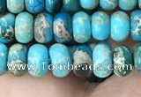 CDE1265 15.5 inches 4*6mm rondelle sea sediment jasper beads