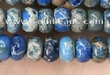 CDE1266 15.5 inches 4*6mm rondelle sea sediment jasper beads