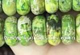 CDE1291 15.5 inches 6*12mm rondelle sea sediment jasper beads