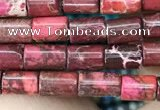 CDE1301 15.5 inches 4*6mm tube sea sediment jasper beads