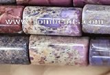CDE1351 15.5 inches 8*16mm tube sea sediment jasper beads