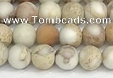 CDE1413 15.5 inches 4mm round matte natural sea sediment jasper beads