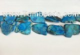 CDE1435 25*35mm - 35*45mm freefrom sea sediment jasper slab beads