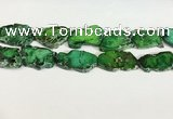 CDE1436 25*35mm - 35*45mm freefrom sea sediment jasper slab beads