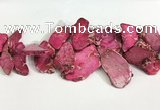 CDE1442 Top drilled 15*25mm - 30*50mm freefrom sea sediment jasper beads